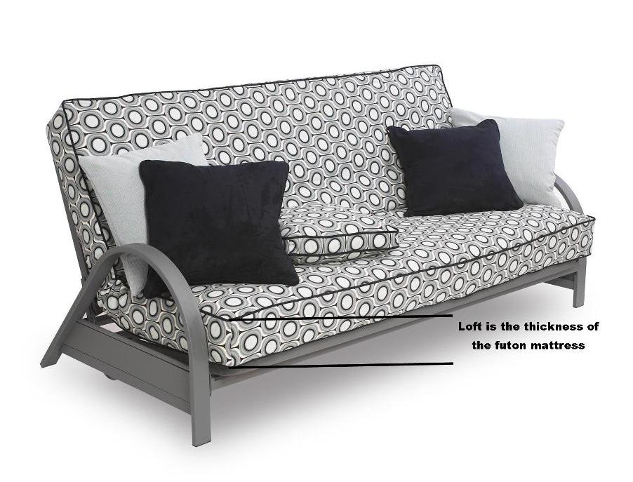 Removable futon cover fabric only. Futon frame and futon mattress sold separately Full SIS Cover Square Root Futon Cover Fabric