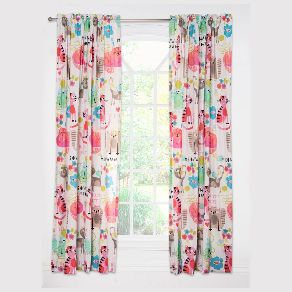 Purrty Cat Curtains